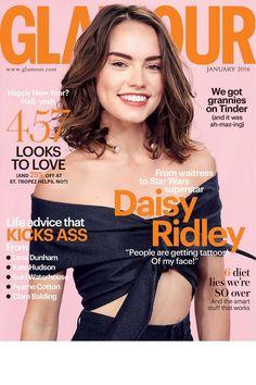 Meet GLAMOUR UK's January 2016 cover girl: Daisy Ridley