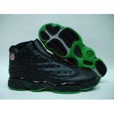 new product e3f06 ab1a0 Air Jordan 13 Retro Black Altitude Green