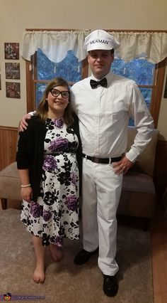 1950's Pregnant Housewife and the Milkman Costume - Halloween Costume Contest via @costume_works