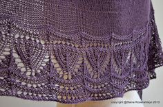 Sunny with a Chance of Knitting: Solanum Shawl pattern is now avaible.