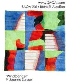 Art quilt by Jeanne Surber