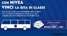 Vinci buoni libri e gita di classe con Nivea - http://www.omaggiomania.com/concorsi-a-premi/vinci-buoni-libri-e-gita-di-classe-con-nivea/