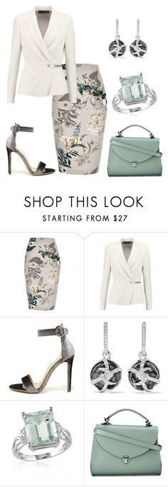"""""""Green White"""" by glamheartcafe ❤ liked on Polyvore featuring River Island, Donna Karan, Olivia Jaymes, Stephen Webster, Belk & Co. and The Cambridge Satchel Company"""