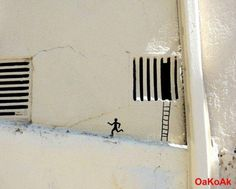 prison break -  street art by OAKOAK