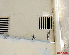 prison break -  street art by OAKOAK