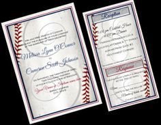 Elegant Formal Baseball Themed Sports Wedding Invitation Set