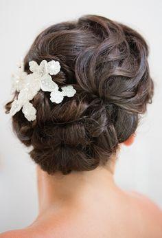 Romantic Twisted Updo | Feminine Bridal Hair