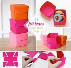 Petites boites en papier idéales pour offrir des petits bijoux aux copines.