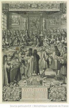 Philippe I d'Orleans (1640-1701), Elisabeth-Charlotte du Palatinat (1652-1722), Philippe II d'Orleans (1674-1723), and Elisabeth-Charlotte d'Orleans (1676-1744), in LOUIS LE GRAND L'AMOUR ET LES DELICES DE SON PEUPLE. ou / les Actions de graces, les Festes et les Rejouïssances pour le parfait retablissement de la Santé du Roy en 1687, 1688, French school