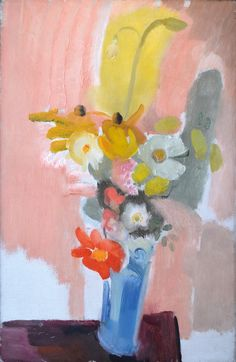 'Still Life, Flowers in an Interior' by Ivon Hitchens British, painted in Signed lower left. Oil on canvas. Paintings I Love, Flower Paintings, Still Life Flowers, Still Life Art, Abstract Flowers, Botanical Art, Contemporary Paintings, Abstract Expressionism, Sculpture Art
