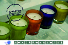 Aromatherapy candles line up in colourful cases...source these and more at The IHGF Delhi Fair Autumn, 2016 #aromatherapy #homedecor #tradeshow