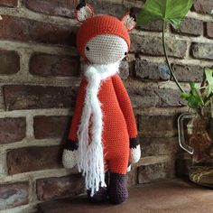 FIBI the fox made by Cecilia H. (tejequela) / crochet pattern by lalylala