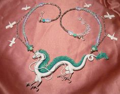 Spirited Away: Haku the Dragon Collar Made to por MiraCrafts