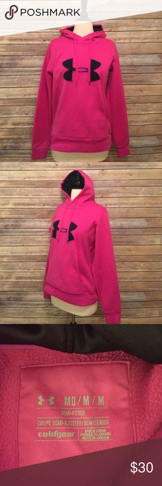 Under Armour Pink Hoodie Under Armour Pink Sweatshirt Hoodie.  In excellent condition!  Like new! Under Armour Tops Sweatshirts & Hoodies