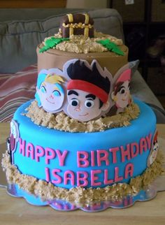 Jake and the Neverland Pirates Birthday Cake Pictures - http://mycakedecors.com/jake-and-the-neverland-pirates-birthday-cake-pictures/