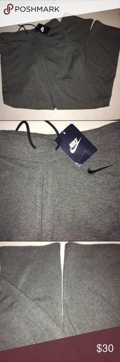 Gray nike work out pants NWT Gray nike work out pants NWT Nike Pants Track Pants & Joggers