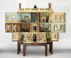 Tate Baby House (open)  Modelled on 18th century Dorset Town House owned by Mrs Walter Tate   England, c. 1760