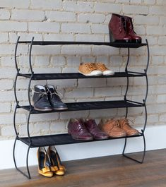 Shoes galore for the Imelda in your house! The Imelda Shoe Rack stacks to create as many levels as required! Available online now.