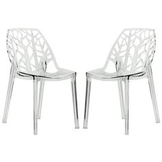 Shop for LeisureMod Modern Flora Clear Cut-out Transparent Plastic Dining Chairs (Set of 2) and more for everyday discount prices at Overstock.com - Your Online Furniture Store!
