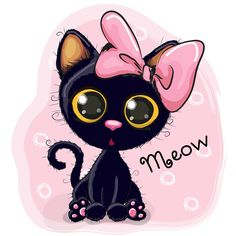 Find Cute Cartoon Black Kitten On White stock images in HD and millions of other royalty-free stock photos, illustrations and vectors in the Shutterstock collection. Thousands of new, high-quality pictures added every day. Cute Cartoon Animals, Cartoon Cartoon, Cartoon Images, Cute Black Kitten, Black Kittens, Ragdoll Kittens, Tabby Cats, Funny Kittens, Bengal Cats