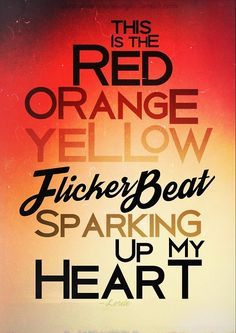 LYRICS+TYPOGRAPHY: Lorde/Yellow Flicker Beat