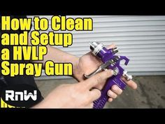 Learn the basics about using and cleaning spray guns, and how to apply base and clear coats. Adjust spray patterns, cleaning a spray gun, Dupont and Nason se. Hvlp Paint Sprayer, Best Paint Sprayer, Using A Paint Sprayer, Car Painting, Spray Painting, Car Paint Repair, Auto Paint, Hvac Filters, Brake Pads And Rotors