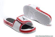 New White Red Black Nike Jordan Hydro 2 Slide Sandal