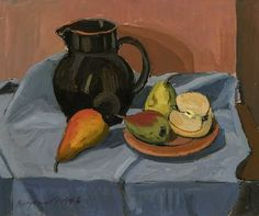 Georges Borgeaud - Nature morte au pichet, 1996 Still Life, Breakfast, Painting, Art, Color, Drawing Drawing, Auction, Morning Coffee, Art Background