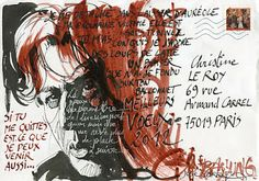 Dans ma boîte aux lettres: José Correa #mailart #josecorrea #bashung