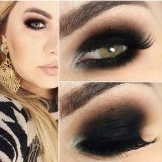 Olhos pretos esfumados!