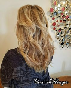 Color Melt with Highlights and Duel Toned Hothead Hair Extensions added for length and volume!