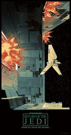 "fysw: "" cinemagorgeous: "" Gorgeous tributes to the original Star Wars trilogy. By artist Matt Ferguson. "" """