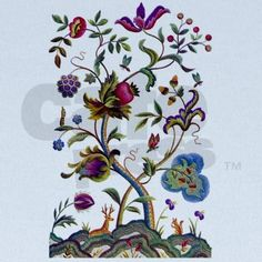 this is what I love #crewel embroidery #@Anna Totten Totten Totten Halliwell Boyd Fontaine 2\/5\/13