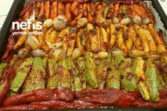 Fırında Muhteşem Zeytinyağlı Sebze Kebabı (Parmak Kebabı) Tarifi nasıl yapılır? 12.326 kişinin defterindeki bu tarifin detaylı anlatımı ve deneyenlerin fotoğrafları burada. Cauliflower Tots, Marinated Tomatoes, Charcuterie Platter, Kebab, Finger, Summer Salads, Fresh Herbs, Soul Food, Asparagus