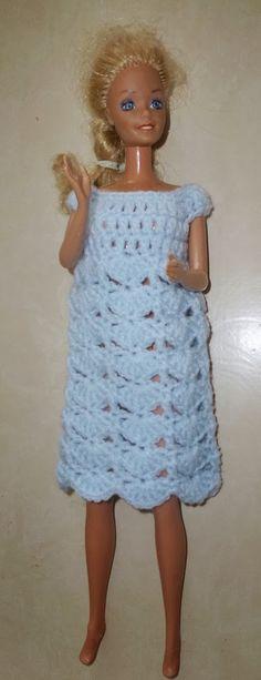 Une jolie robe pour Barbie Blog Crochet, Barbie Et Ken, Barbie Style, Barbie Clothes, Summer Dresses, Fashion, Barbie Dress, Barbie Dolls, Crochet Barbie Clothes