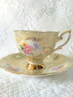 Vintage Footed Royal Standard Fine Bone Tea Cup by MariasFarmhouse, $75.00