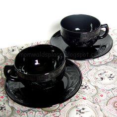 Vintage black depression glass