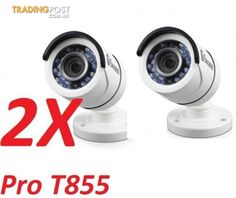 2x Swann PRO-T853 2.1MP Super HD Bullet Day/Night Cameras