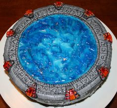 A Stargate cake. I don't think this one will stay open longer than 38 minutes, if you know what I mean. ;)
