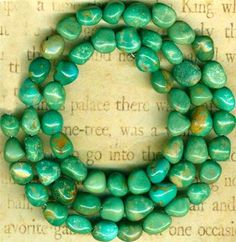 """Mexican Campo Frio Turquoise Beads 16"""" Strand Natural Color 100 Genuine 