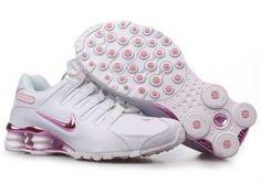 Cheap Nike Shox NZ White Pink Women Running Shoes 4326121