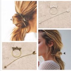 Cheap star hairpin, Buy Quality hair stick directly from China hairpin hair Suppliers: New fashion hairwear vintage gold color star hairpin hair combs hair sticks gift for women girl Boho Hairstyles, Vintage Hairstyles, Fashion Now, Hair Sticks, Hair Comb, Hair Jewelry, Hair Looks, Hair Pieces, Hair Clips