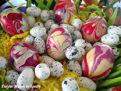 Πασχαλινά αυγά με Βερνίκι νυχιών - Γιαγιά Μαίρη Εν Δράσει Easter Eggs, Food And Drink, Tips, Counseling