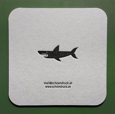 Und der Haifisch, der hat Zähne ... Letterpress Bierdeckel (Bieruntersetzer, Coaster). Letterpress, Branding, Inspiration, Beer Coasters, Business Cards, Pisces, Invitations, Nice Asses, Biblical Inspiration