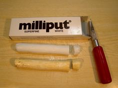 Milliput putty package