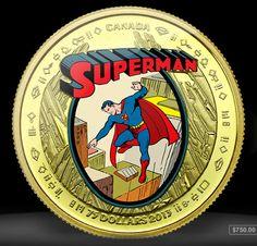 Superman   Canadá lança moedas em comemoração aos 75 anos do herói > Quadrinhos   Omelete