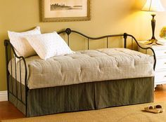 """""""I bought this bed with the trundle. I put 2 high quality mattresses on it and I pop up the trundle and use it as a KING size bed for company or 2 twins for single guests. They love it! The bed is very sturdy. Not rickety like other cheap ones. A solid investment."""" - Dee"""