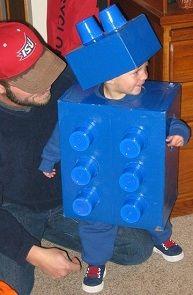 LEGO brick costume