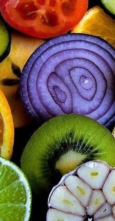 Fruit and vegetable. I like the idea of painting or drawingbcross sections. I may try this.