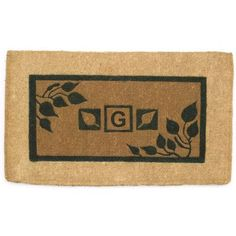 "Geo Crafts Imperial Border Doormat Rug Size: 30"" x 48"", Letter: K"